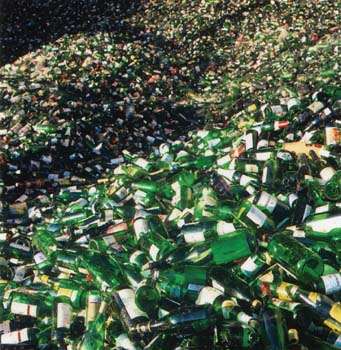 Vertedero de botellas
