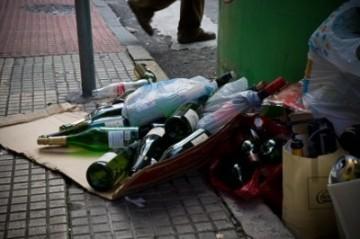 Botellas tras la Navidad