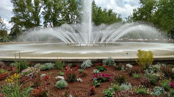 Fuente del Parque de San Isidro antes de las fiestas