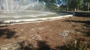 Fuente del Parque de San Isidro tres días después