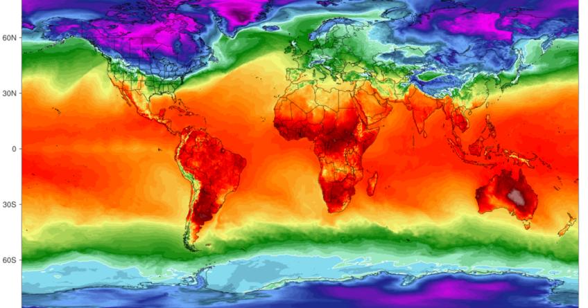 Mapa del calentamiento global